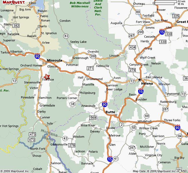 Map Of Missoula Montana Montana Map - Missoula mt us map